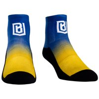 Boston Uprising Rock Em Socks Women's Dip Dye Quarter-Length Socks - Blue/Yellow - S/M