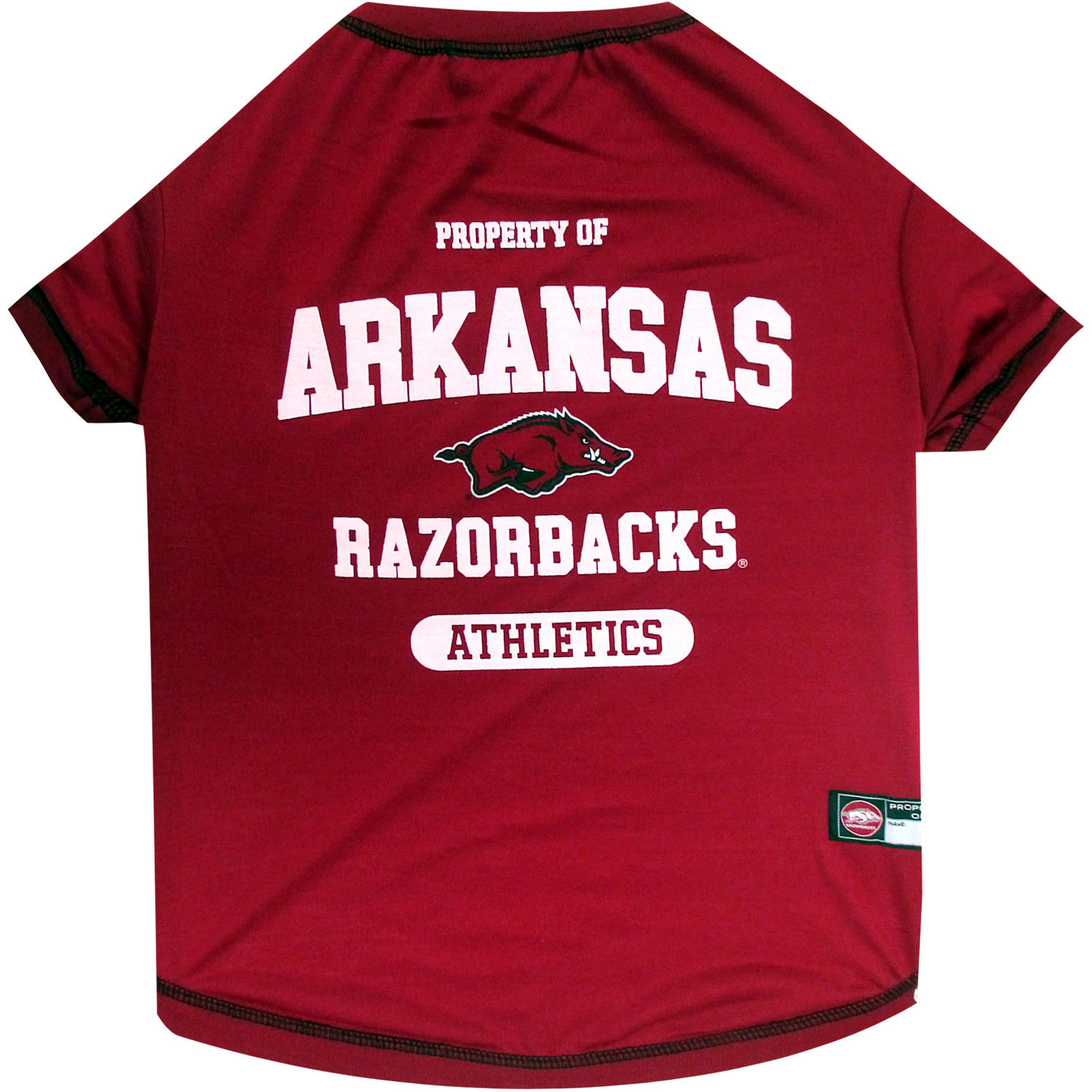 Pets First Collegiate Arkansas Razorbacks Pet T-shirt, Assorted Sizes