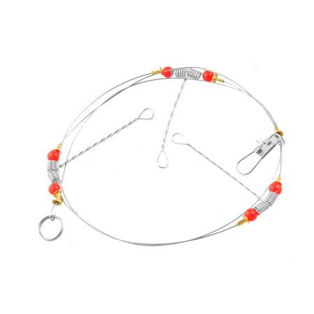 Unique Bargains Unique Bargains Red Beads Decor Metal Fishing Fish Hooks - Beaded Fish Hook