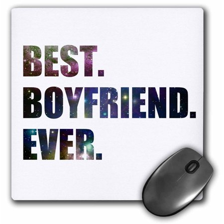 3dRose Best Boyfriend Ever cut out of outer space stars and galaxies graphic, Mouse Pad, 8 by 8