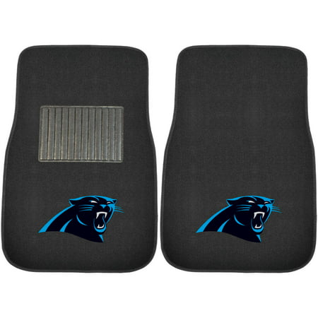FanMats NFL Carolina Panthers 2-Piece Embroidered Car Mats Fanmats Milwaukee Brewers Car Mats