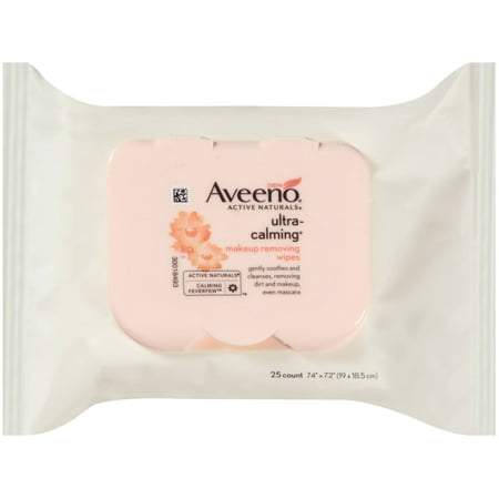 2 Pack - AVEENO Active Naturals Ultra-Calming Makeup Removing Wipes 25 ea ()