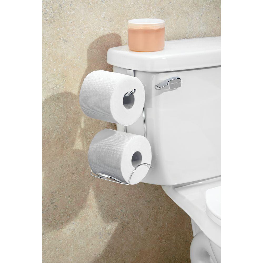HOME BASICS Over the Tank Chrome Toilet Paper Holder