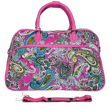 World Traveler 21-inch Carry-on Duffel Bag - Pink Multi Paisley