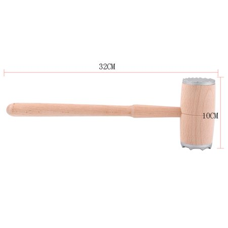 Yosoo Two Sides Wood Meat Hammer Mallet Pounder For Tenderizing