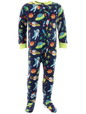 4f803881bd Space Ships Blue Footed Pajamas for Baby and Toddler Boys