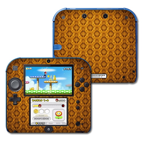 Skin Decal Wrap for Nintendo 2DS sticker Vintage Gold