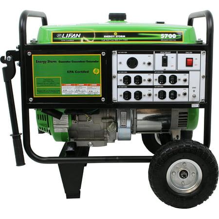 Lifan Energy Storm 5700  13Hp Ohv  389Cc  4 Stroke Industrial Grade  Recoil Start  Gasoline Powered Portable Generator