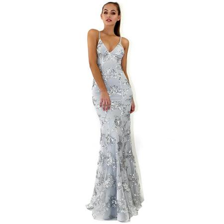Wedding Dresses For Women Sexy Sequined Spaghetti Strap V-neck Long Formal Dresses Elegant Evening Party Dress