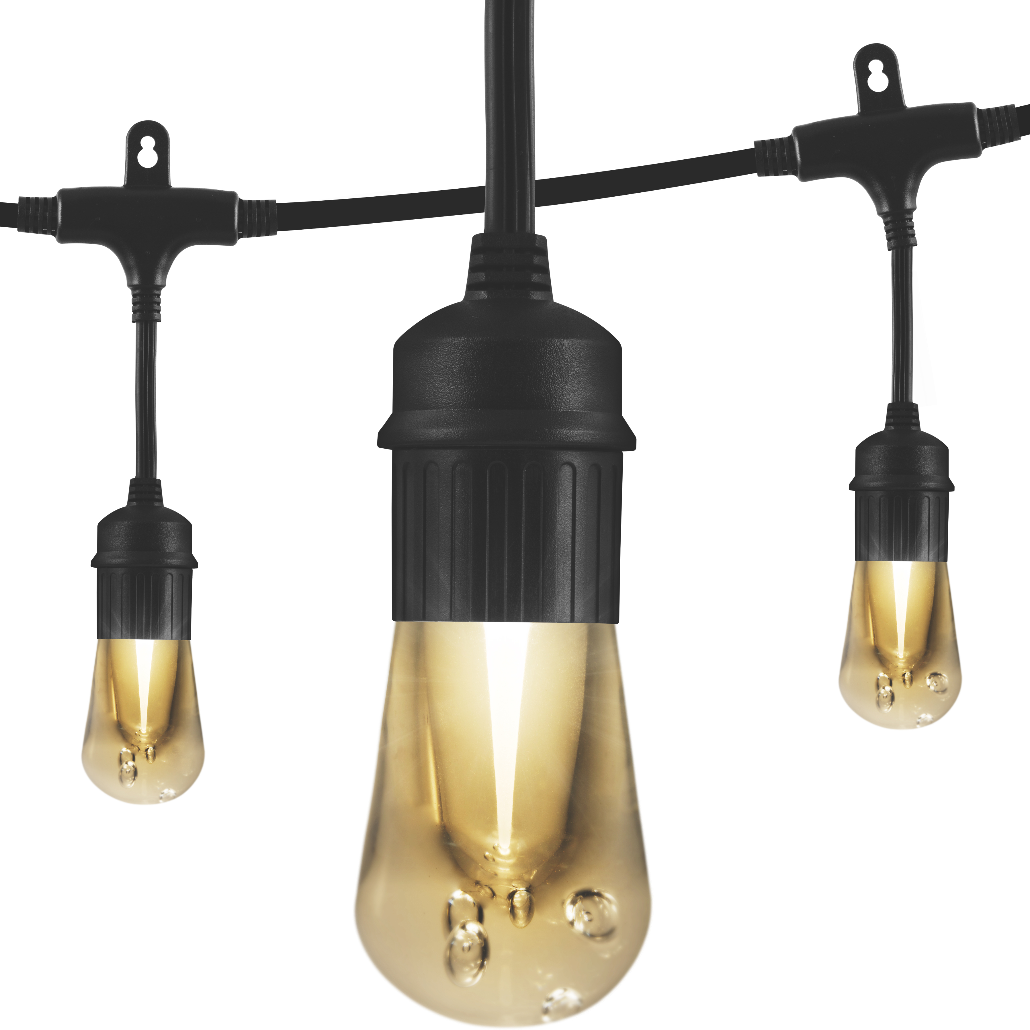 Enbrighten LED Vintage Cafe String Lights, 48-Foot 24 Acrylic Bulbs, 35631