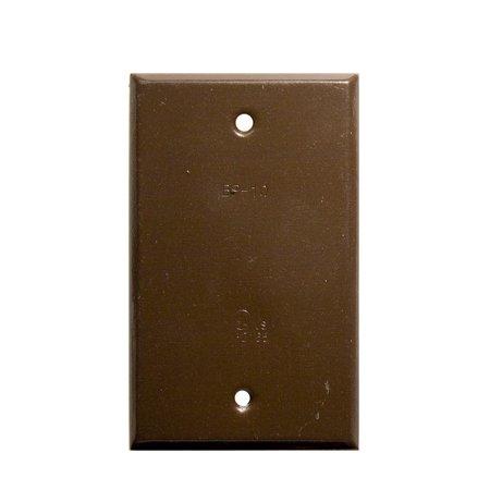 One Gang Weatherproof Covers - Vertical Blank Bronze