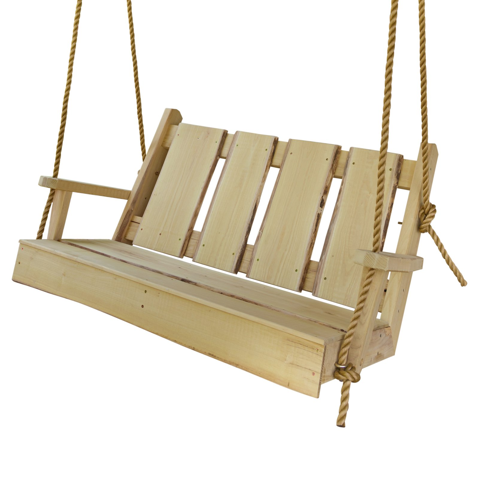 A & L Furniture Timberland 52 in. Wood Porch Swing
