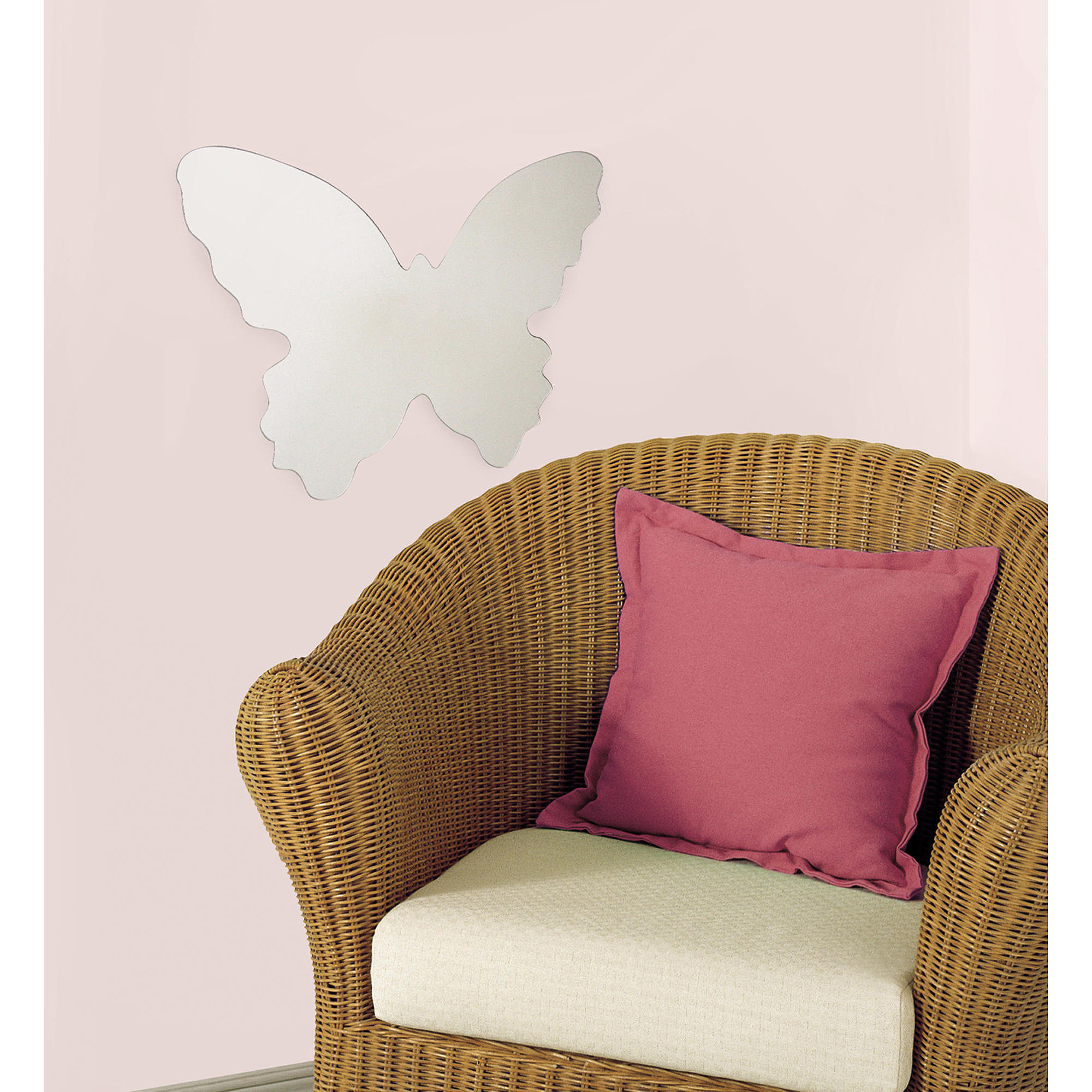 RoomMates Butterfly Peel and Stick Mirror, Large