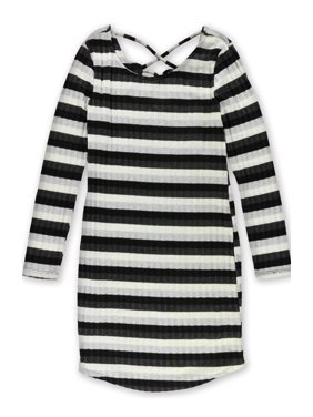 2540f136ec2c0 Product Image No Comment Womens Juniors Metallic Striped Casual Dress