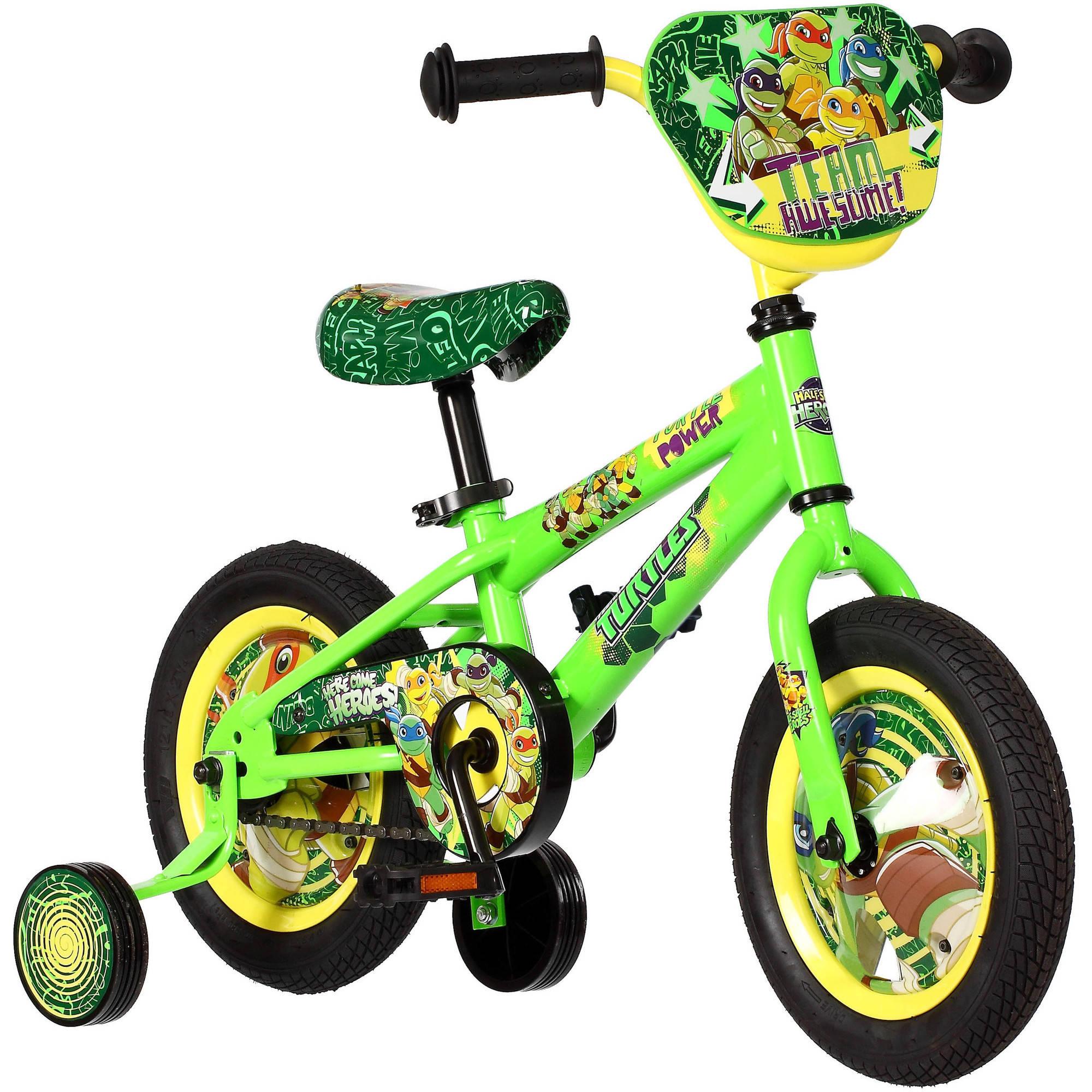 """12"""" Teenage Mutant Ninja Turtles Boys' Bike, Green"""