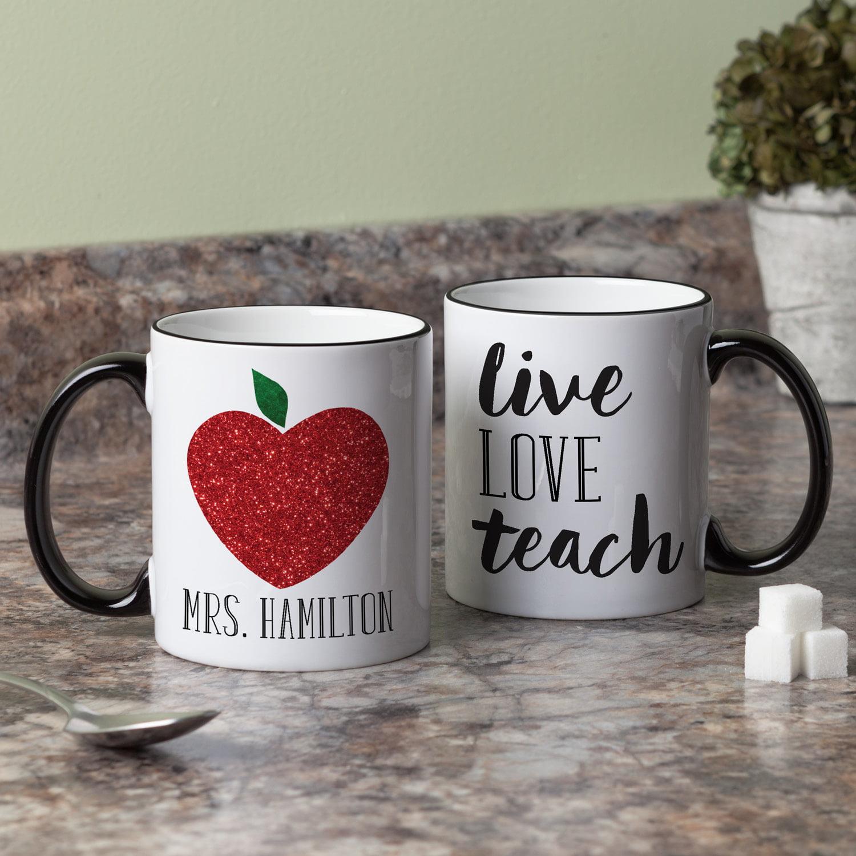 Personalized Teacher Mug - Live, Love, Teach