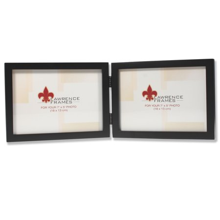5x7 Hinged Double (Horizontal) Black Wood Picture Frame - Gallery Collection Fan Picture Frame