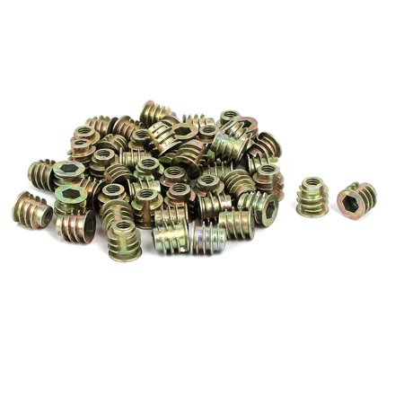 M4x8mm Interface Hex Socket Threaded Insert Nuts 50pcs for Wood Furniture - image 3 of 3