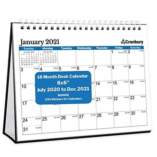 Cranbury Small Desk Calendar 2020 2021