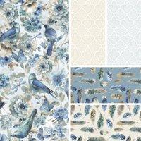 """David Textiles Cotton 36"""" x 44"""" Indigold Collection Pre-Cut Fabric, 1 Each"""