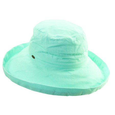 Scala Collezione Women's Cotton Big Brim Hat GREEN O/S