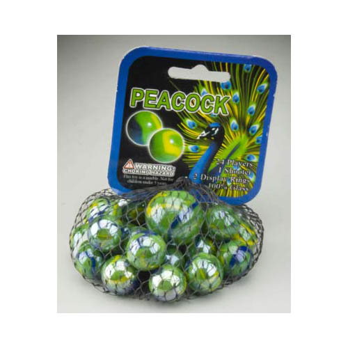 77757 Peacock Marbles Multi-Colored