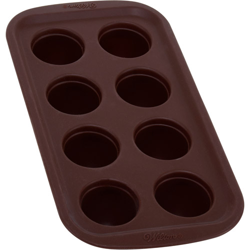 Wilton 8-Cavity Brownie Pops Silicone Mold, Round 2105-4925