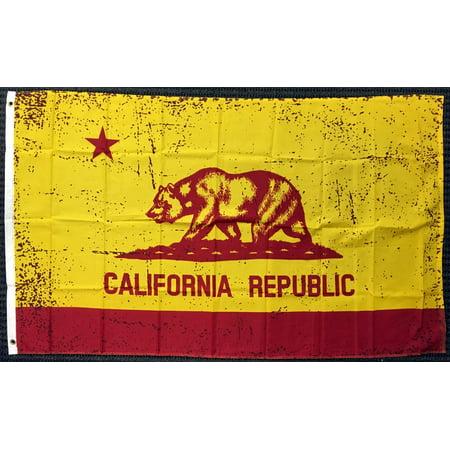 3x5 Red and Gold California State Flag Republic CA Outdoor Garden Banner USA (Garden State Usa)