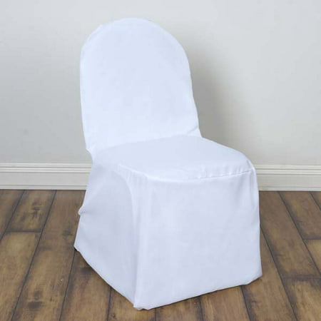 Efavormart 50PCS Round Top Polyester Banquet Chair Covers Linen Dinning Chair slipcover  For Hotel Dining Wedding Party - Chair Covers For Wedding