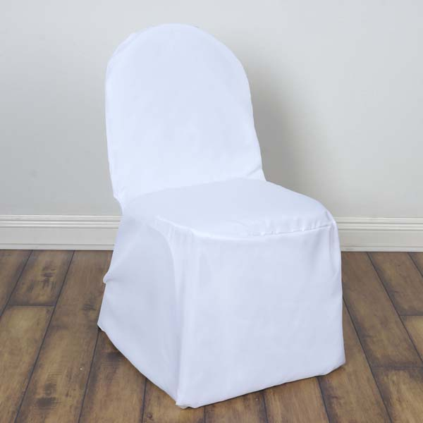 Efavormart 50PCS Round Top Polyester Banquet Chair Covers Linen Dinning Chair slipcover  For Hotel Dining Wedding Party Events