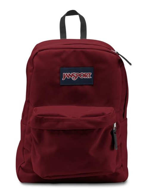 JanSport Superbreak School Backpack - Viking Red - Silver