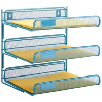 Honey Can Do 3-Tier Steel Mesh Letter Tray, Multicolor