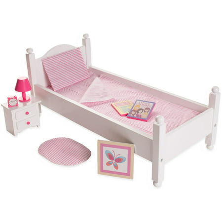 eimmie 18 inch doll furniture bed with accessories