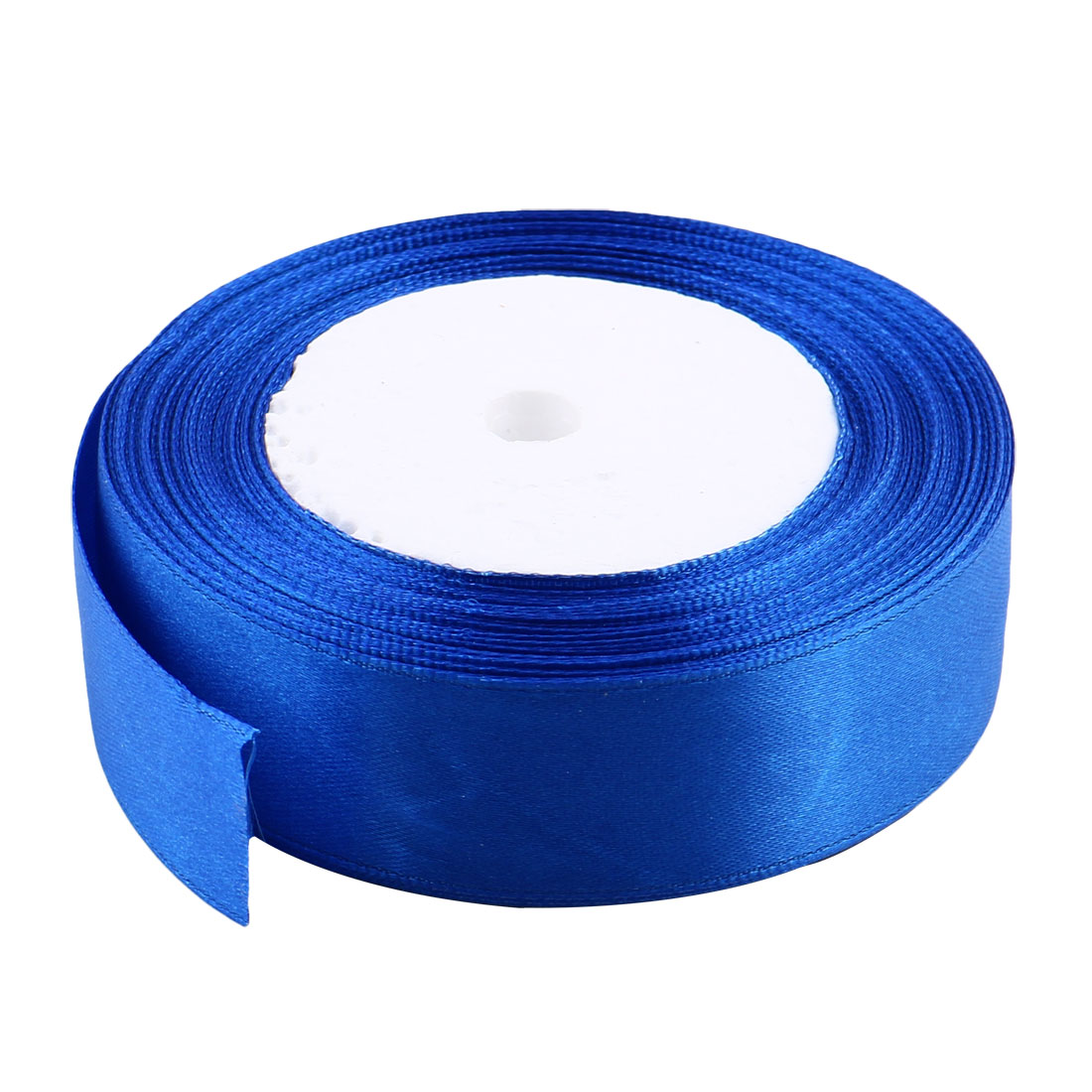 DIY Gift Packing Double Face Satin Ribbon Roll 25 Yards 23M 2.5cm Width Blue