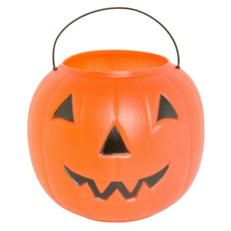 Disney Halloween Treat Pumpkin (BIG JACK PUMPKIN PAIL W/HANDLE Plastic Trick Or Treat Bucket)