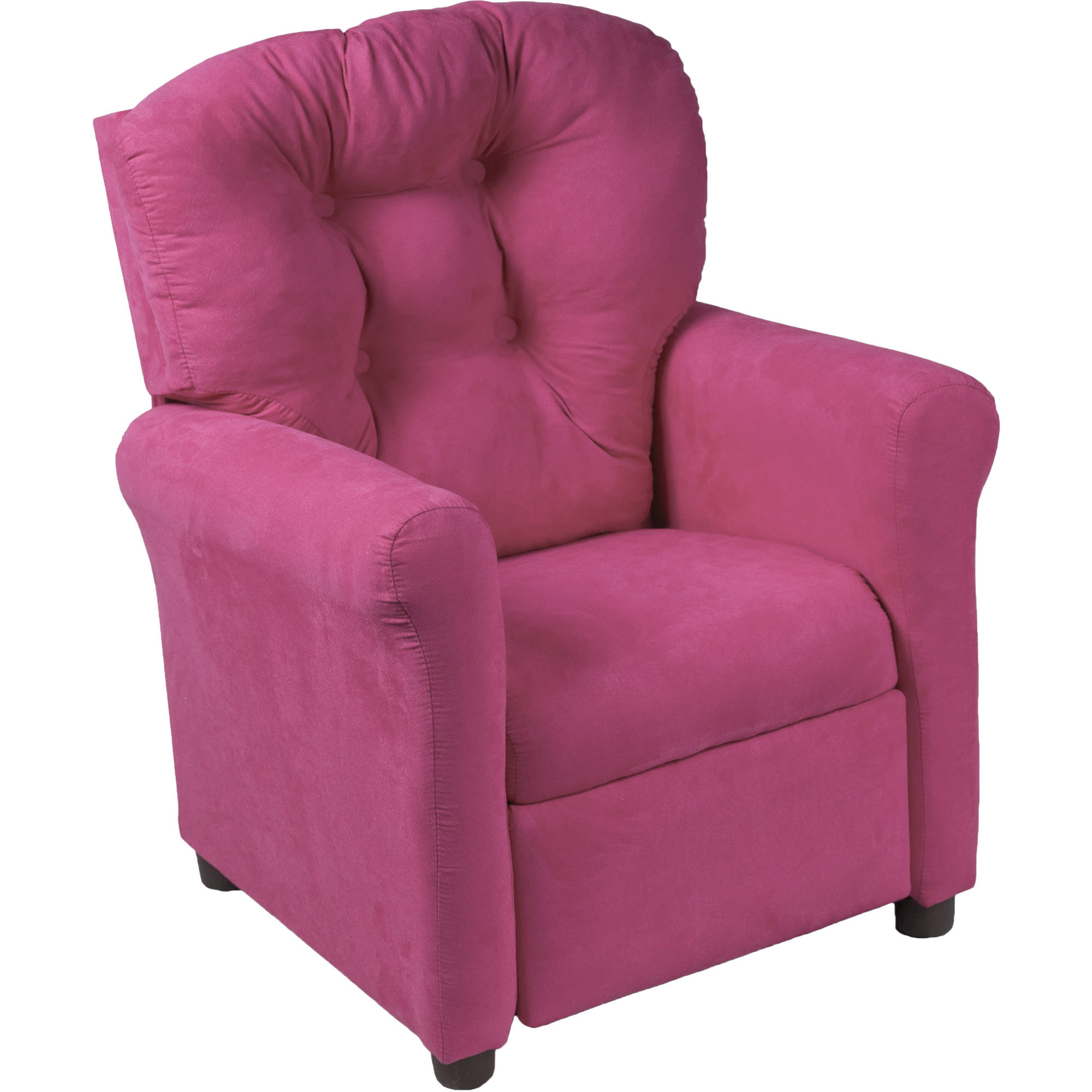 Traditional Juvenile Microfiber Recliner, Multiple Colors