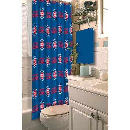 MLB Chicago Cubs 72x72 Shower Curtain