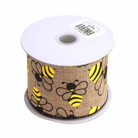 Bumblebee Linens Coupon Code (Bumblebees Natural Linen Ribbon Wired Edge, 2-1/2-Inch, 10)