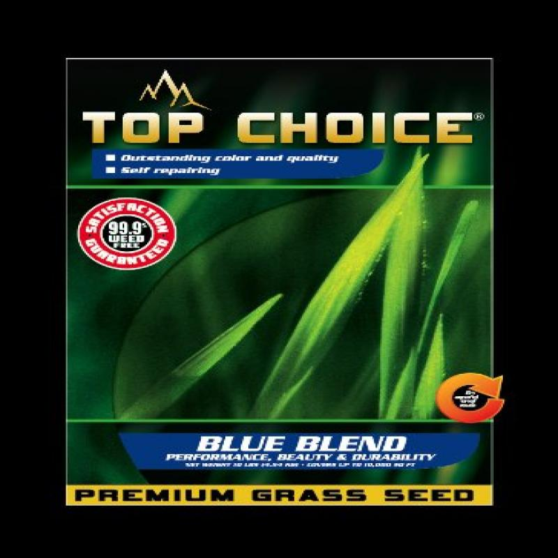 Top Choice 17643 Kentucky Blue/Perennial Ryegrass Grass S...