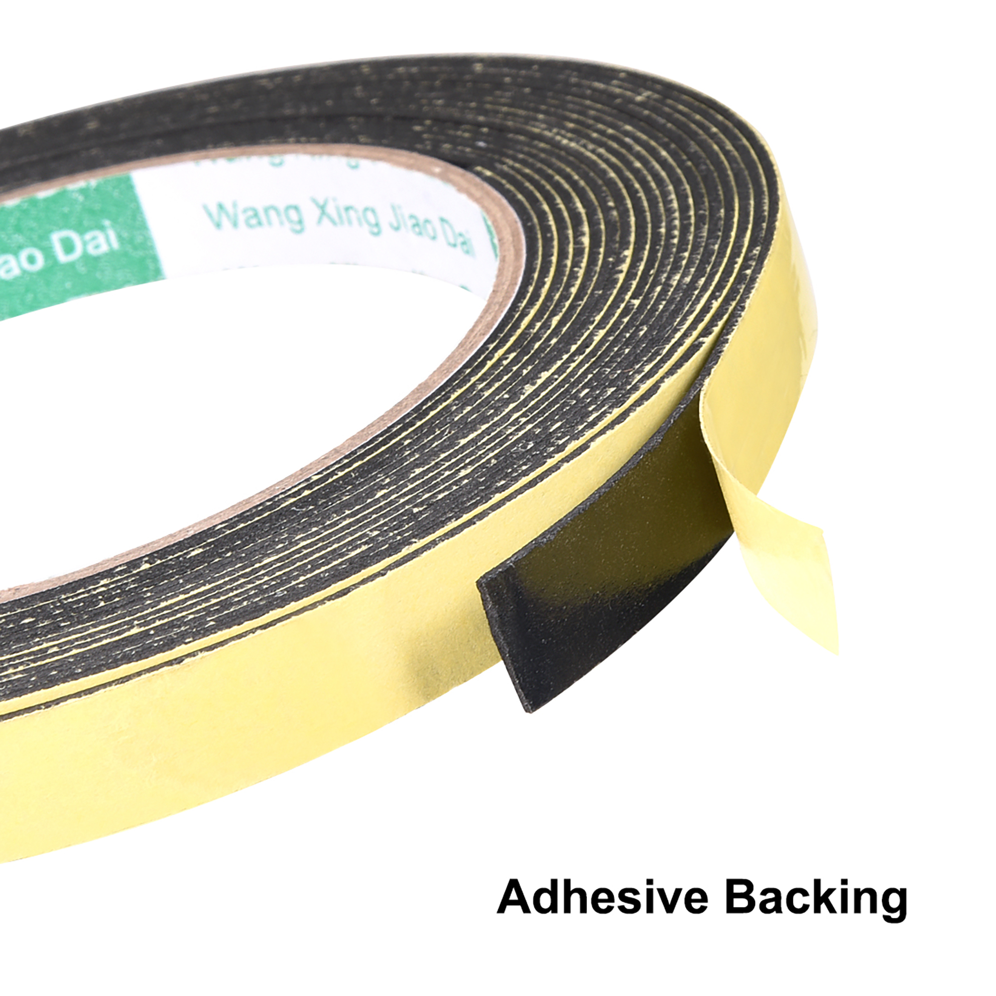 1 mm thick 10 mm wide foam sealing tape weather adhesive tape 2 pieces 16.4 feet long