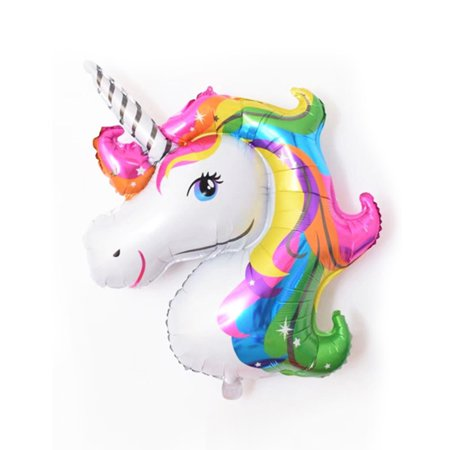 Large Rainbow Unicorn Foil Balloons Helium Balloon Children Birthday