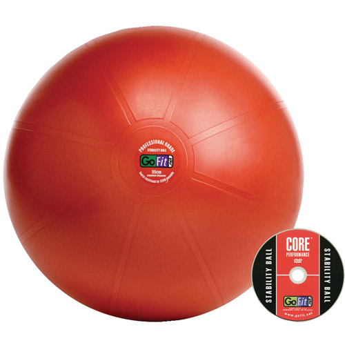 GoFit 55cm Professional Stability Ball and Core Performance Training DVD