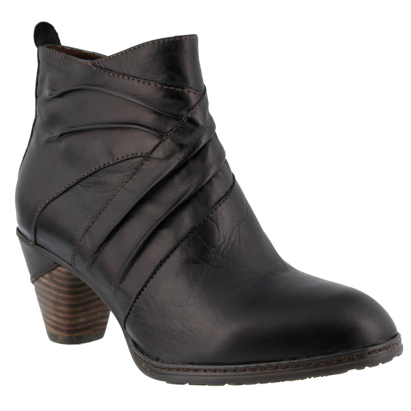 L'Artiste Jazlyn By Spring Step Black Leather Boots 40 EU   9 US Women by Spring Step