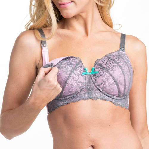 Love Xoxo by You! Lingerie Falling In Lace Molded Cups Wireless Nursing Maternity Bra