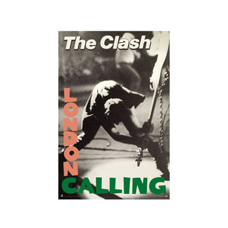 The Clash London Calling Poster 36 x 24 Punk Rock Joe Strummer 1979 English Band - Punk Rock Decor