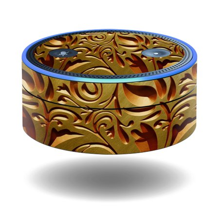 MightySkins Protective Vinyl Skin Decal for Amazon Echo Dot (1st Generation) wrap cover sticker skins Mosaic Gold