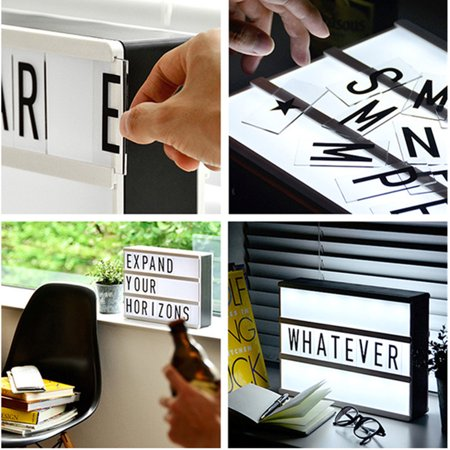 104 packs Black cinematiclightbox Letters Sign for A4 MagiGlow Cinematic Cinema Light Up Letter Box Sign  Message (Black Plastic Letter Board Insert)