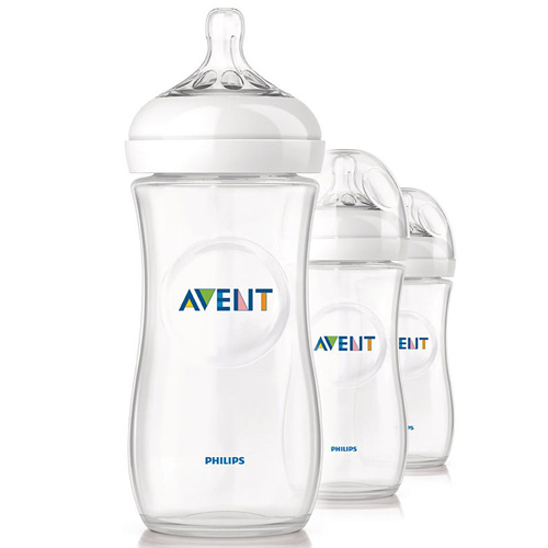Philips Avent SCF696/37 BPA Free Natural Polypropylene Bottles - 11oz, 3 ct