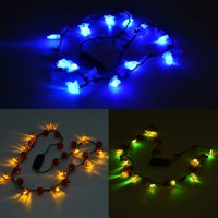 Halloween LED Light-Up Necklaces, 3 Pack