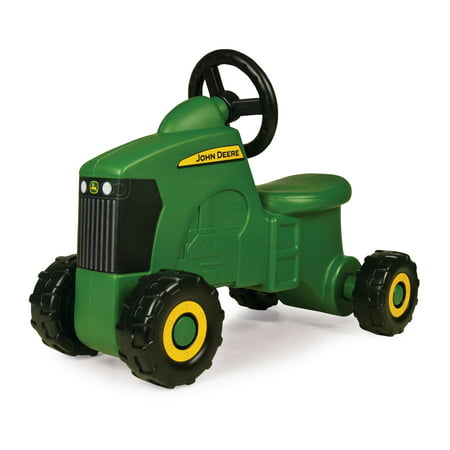 John Deere Foot to Floor Ride On Tractor Toy, Toddler Tractor Ride On Vehicle, Green Okidata Bottom Feed Push Tractor